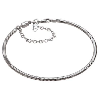 Ladies Persona Sterling Silver 22cm Charm Bracelet With Safety Chain H11380B1-L
