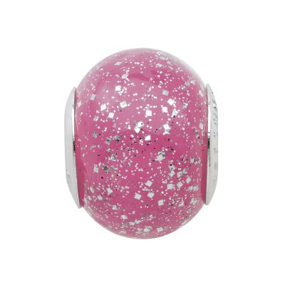 Damen Persona GlitteRing Pink Bead Charm Sterling-Silber H12473PM