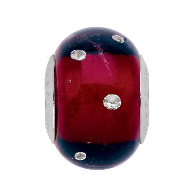Ladies Persona Sterling Silver Thoughtful Ruby Bead Charm H13429PM-01