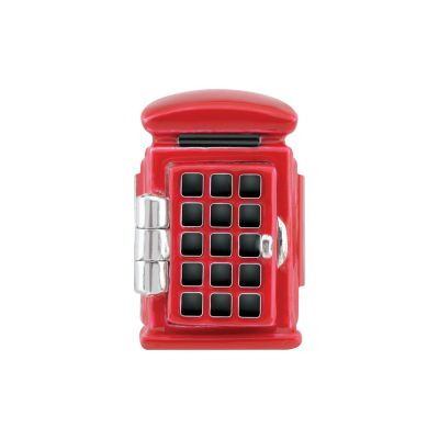 Ladies Persona Sterling Silver Phone Box Bead Charm H14887P1