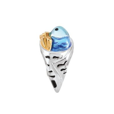 Persona Dam Fish & Chips Bead Sterlingsilver H14891P1