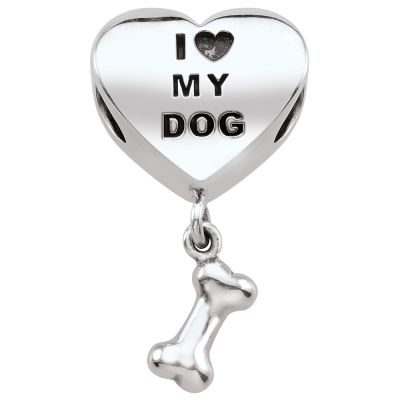 Ladies Persona Sterling Silver Dog Lover Bead Charm H14448P1