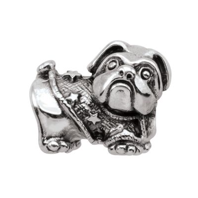 Ladies Persona Sterling Silver Barkley the Bulldog Bead Charm H13614P1