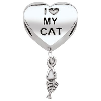 Ladies Persona Sterling Silver Cat Lover Bead Charm H14449P1
