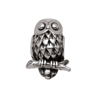 Ladies Persona Sterling Silver Wise Owl Bead Charm H13440P1