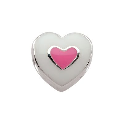 Ladies Persona Sterling Silver Pure Heart Bead Charm H11882P1