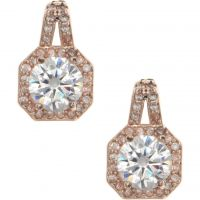 Ladies Anne Klein Rose Gold Plated Stunning Stones Earrings 60466543-9DH
