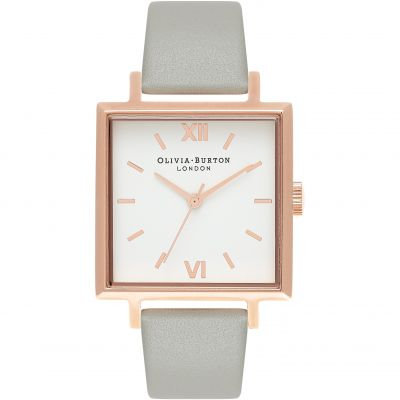 Square Dials Rose Gold & Grey Watch