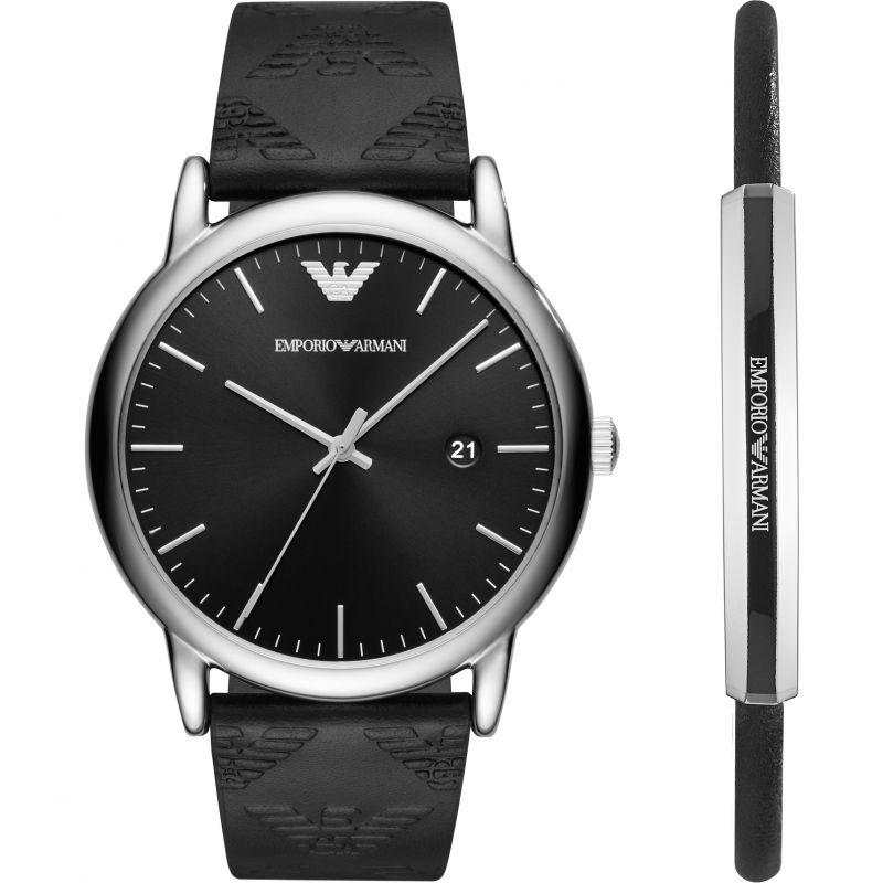 Mens Emporio Armani Bracelet Gift Set Watch