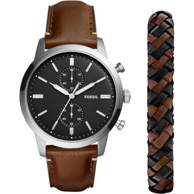 Mens Fossil Townsman Chronograph Watch FS5394SET