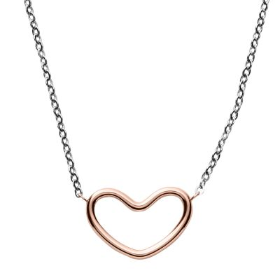 Ladies Skagen Two-Tone Steel and Rose Plate Katrine Necklace SKJ1058998