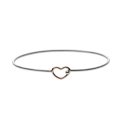 Ladies Skagen Two-Tone Steel and Rose Plate Katrine Bangle SKJ1059998