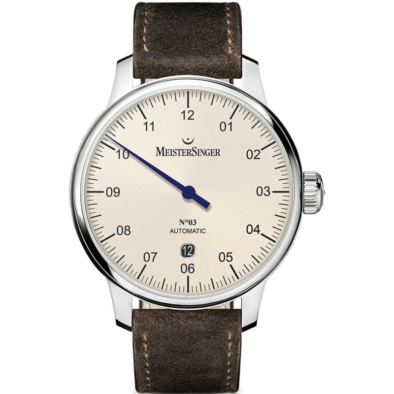 Mens Meistersinger No 03 40mm Automatic Watch