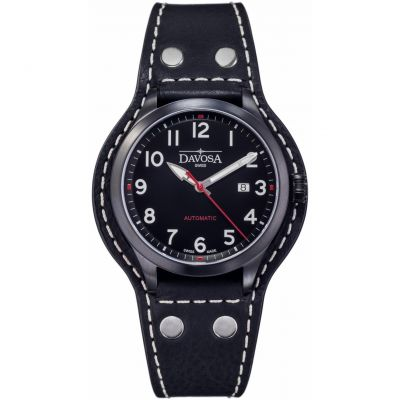 Davosa Casual Axis Herrenuhr in Schwarz 16157356