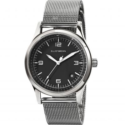 Elliot Brown Kimmeridge Damenuhr in Silber 405-005-B51