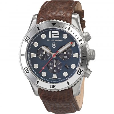 Elliot Brown Bloxworth Herrkronograf Brun 929-015-L16