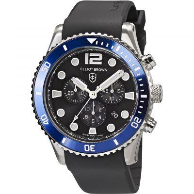 Elliot Brown Bloxworth Herrenchronograph in Schwarz 929-012-R01