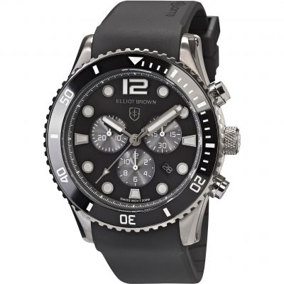 Elliot Brown Bloxworth Herrenchronograph in Schwarz 929-010-R09