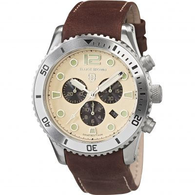 Elliot Brown Bloxworth Herrkronograf Brun 929-014-L18