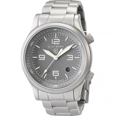 Elliot Brown Canford Herrenuhr in Silber 202-018-B06