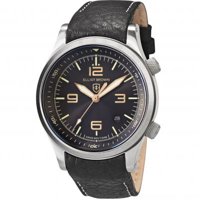 Elliot Brown Canford Herrenuhr in Schwarz 202-021-L17