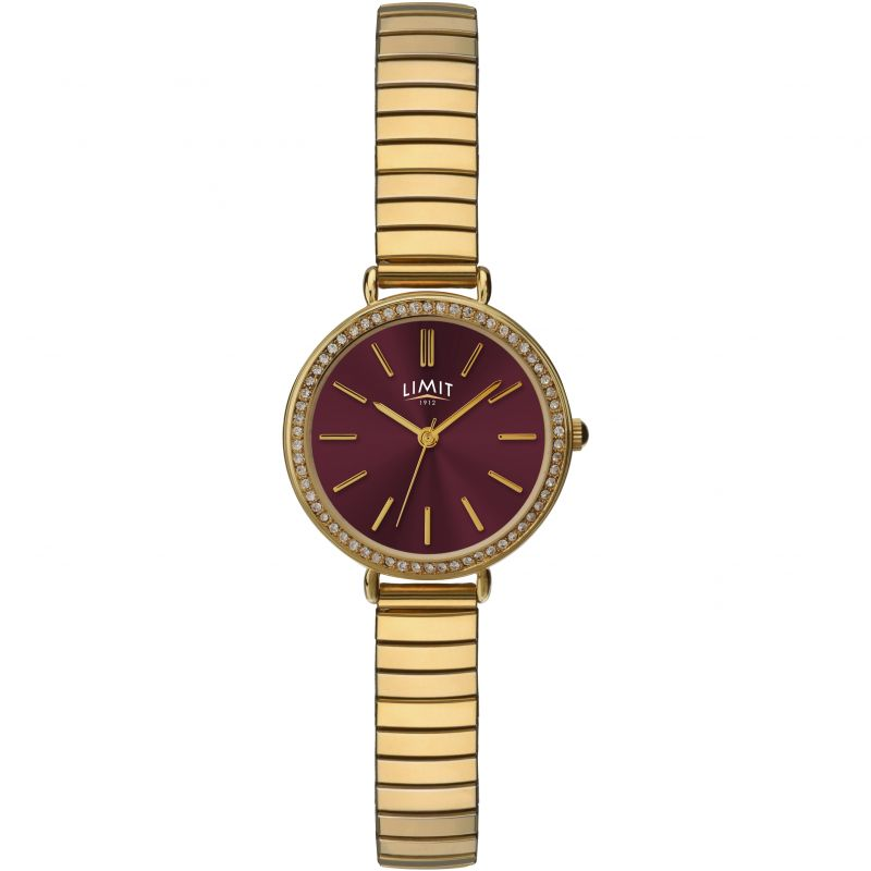 Ladies Limit Gold Plated Expanding Bracelet Watch 6245.01
