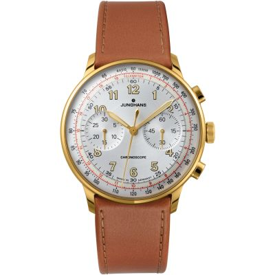 Mens Junghans Meister Telemeter Automatic Chronograph Watch 027/5382.00