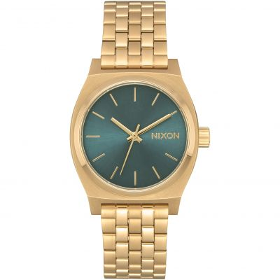 Nixon The Medium Time Teller Unisex horloge Goud A1130-2626