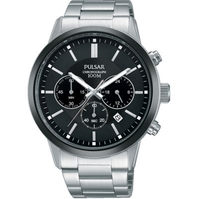 Pulsar Dress Herrenchronograph in Silber PT3747X1