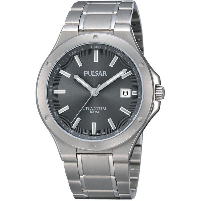 Mens Pulsar Titanium Watch