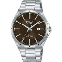 Mens Pulsar Solar Solar Powered Watch