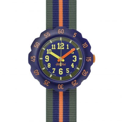 Childrens Flik Flak Orange Line Watch FPSP021