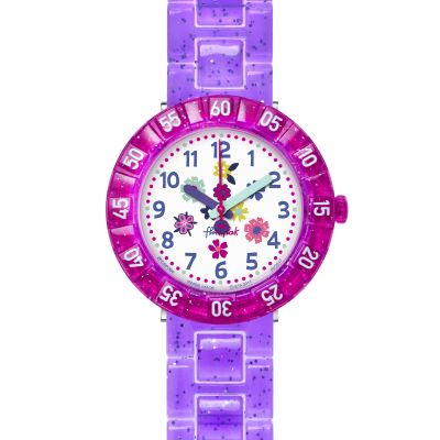 Childrens Flik Flak Purple Garden Watch FCSP060