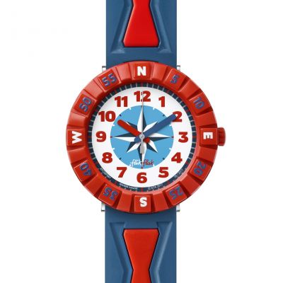 Flik Flak Get It In Bred Kinderenhorloge Blauw FCSP061