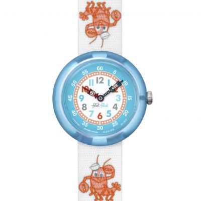 Childrens Flik Flak Lobster Stripe Watch FBNP089