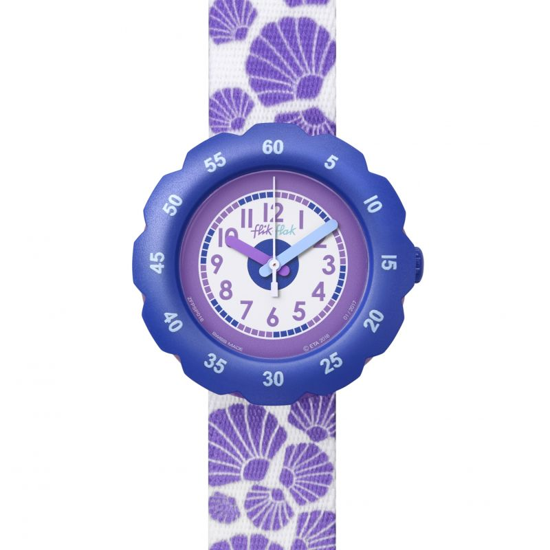 Childrens Flik Flak Soft Purple Watch FPSP016