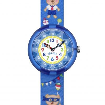 Flik Flak Cool Party Kinderenhorloge Blauw FBNP086