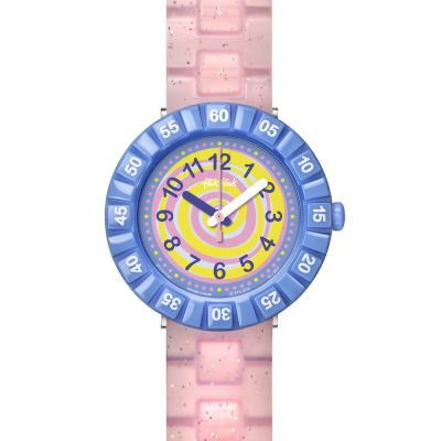Childrens Flik Flak Swirly Candy Watch FCSP045