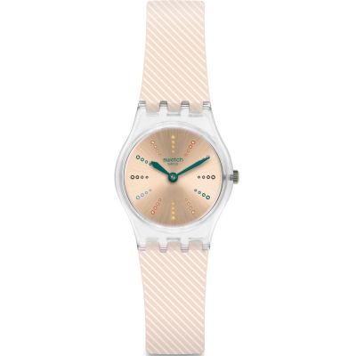 Swatch Originals Lady Quadretten Damenuhr in Cremefarben LK372