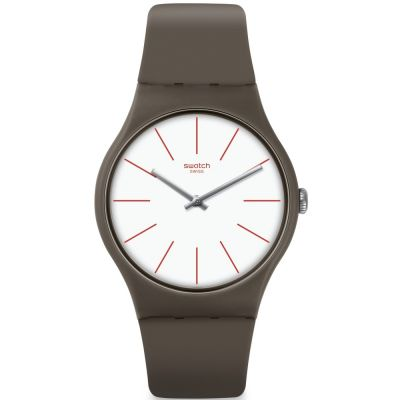 Swatch Originals New Gent Greensounds Unisexuhr in Braun SUOC107