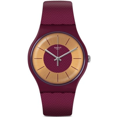 Swatch Originals New Gent Bord Deau Unisexuhr in Lila SUOR110