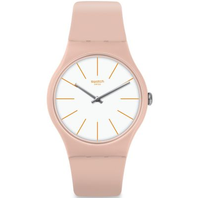 Swatch Originals New Gent Beigesounds Unisexuhr in Pink SUOT102