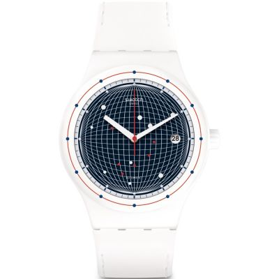 Swatch Sistem51 Originals Sistem Planet Unisexuhr in Weiß SUTW404