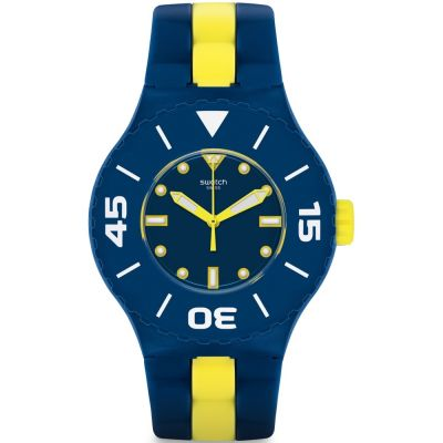 Swatch Long Waves Unisex horloge Geel SUUN102