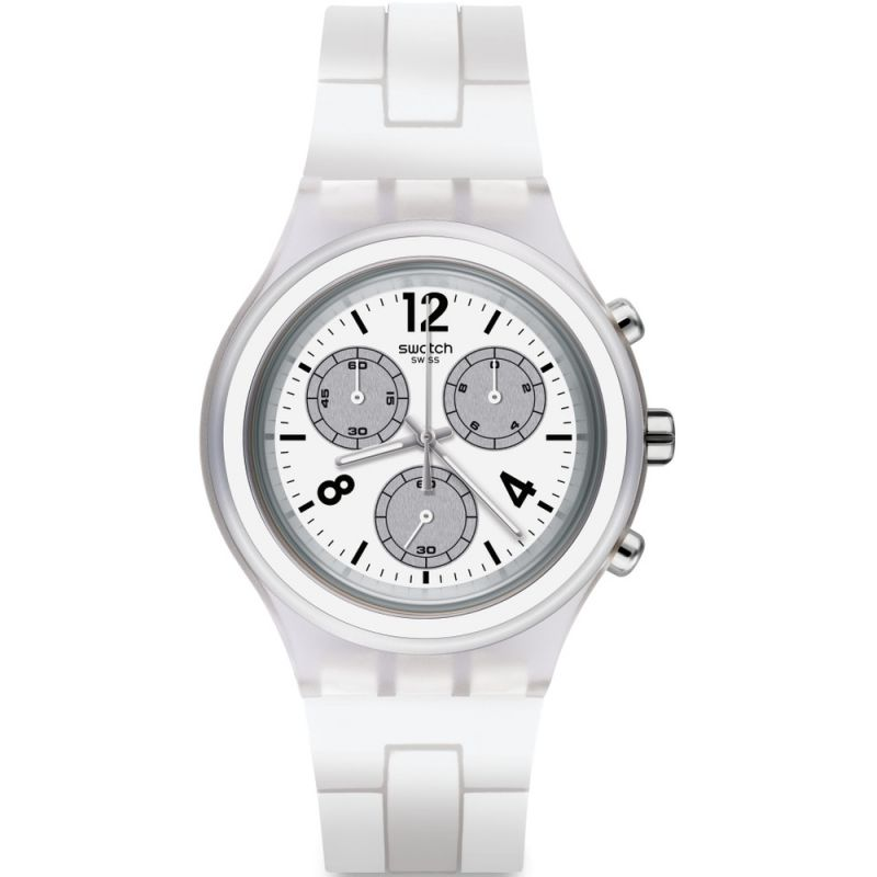 Unisex Swatch Elesilver Chronograph Watch