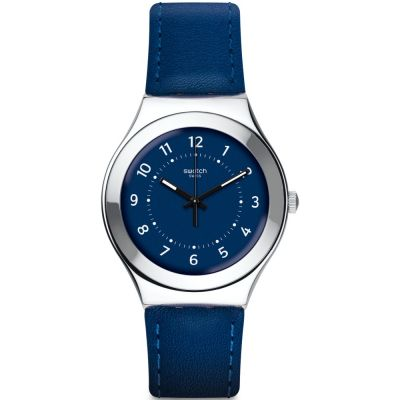 Swatch Irony Big Night Twist Unisexuhr in Blau YGS136