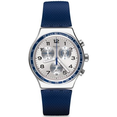 Swatch Irony Chrono Frescoazul Herrenchronograph in Blau YVS439
