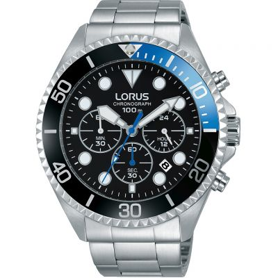 Lorus Sports Herrenchronograph in Silber RT315GX9