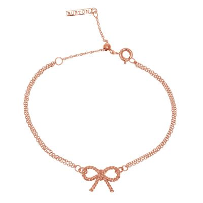 Ladies Olivia Burton Rose Gold Plated Vintage Bow Chain Bracelet OBJ16VBB02