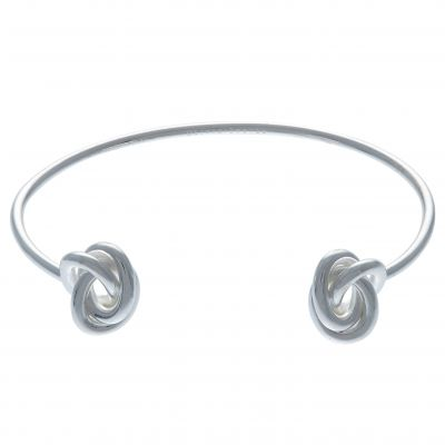 Olivia Burton Dam Forget Me Knot Open Ended Bangle Silverpläterad OBJ16KDB03